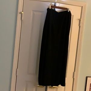 LONG DKNY BLACK EVENING SKIRT